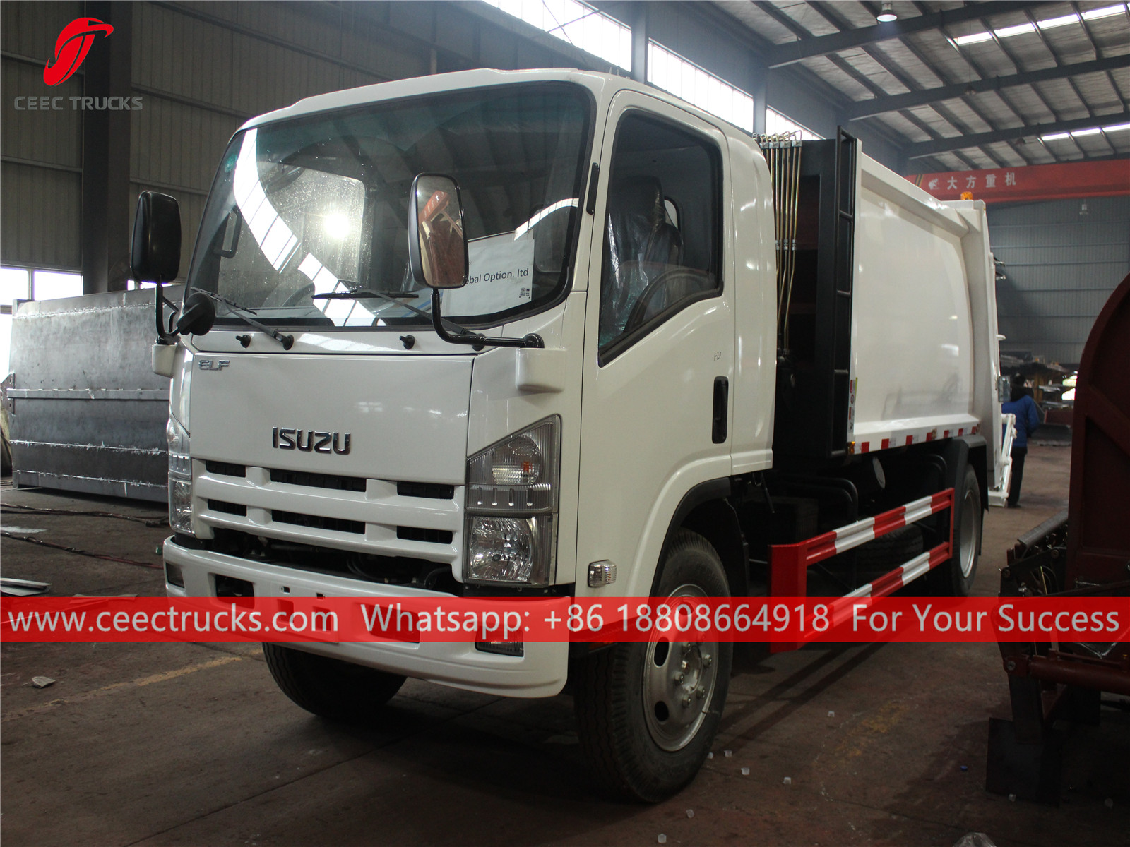 ISUZU 700p 8 cbm garbage compactor truck, in our factory plant.