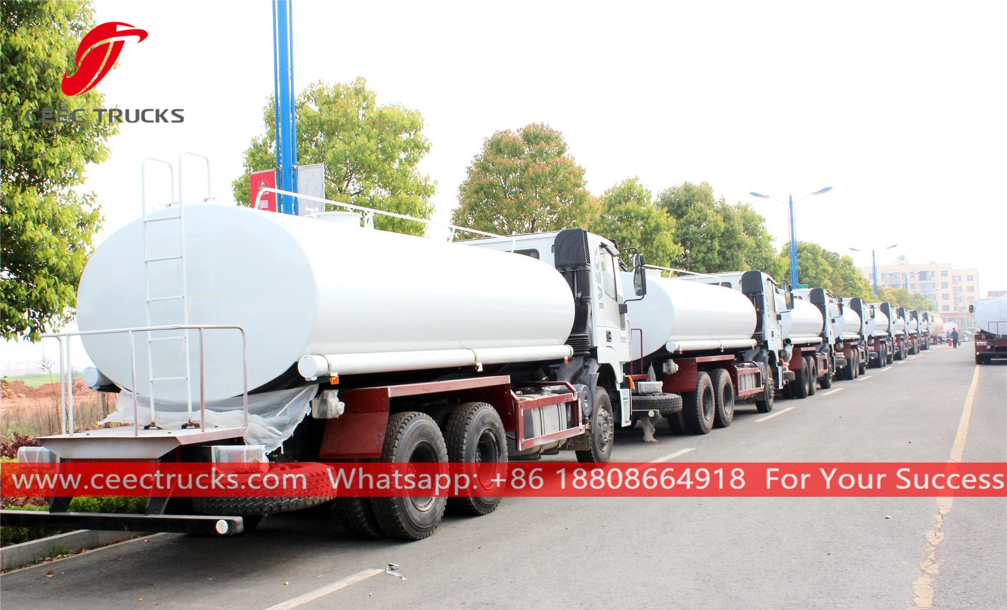 27 units water trucks are ready for delivery
