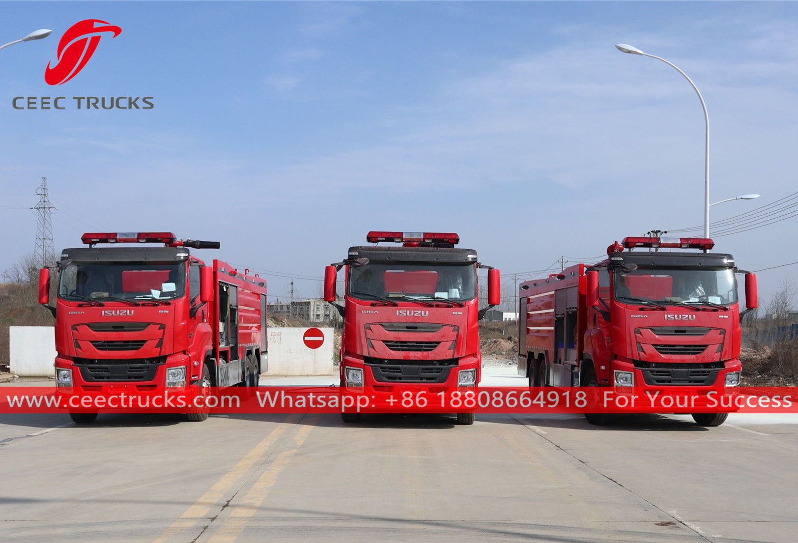 ISUZU GIGA Firefighting trucks for export