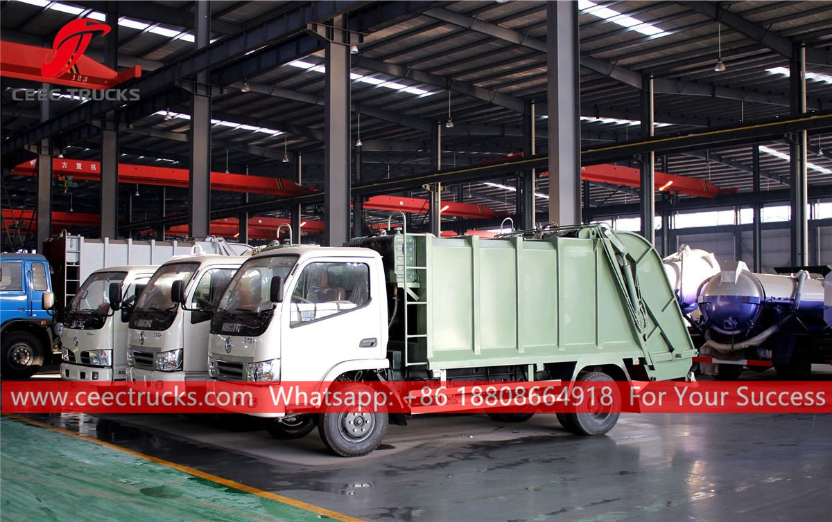Garbage compression trucks are finished production