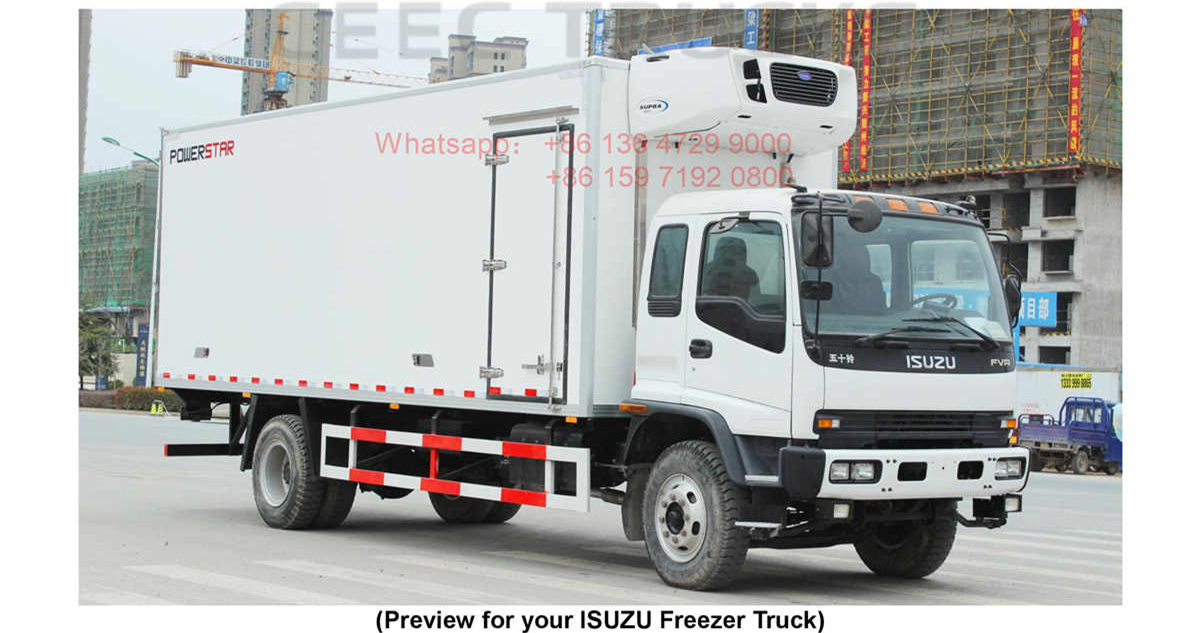 French Polynesia--ISUZU FVR 12Tons Reefer Truck Manual