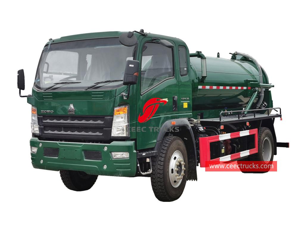 HOWO RHD 4×2 vacuum tanker truck
