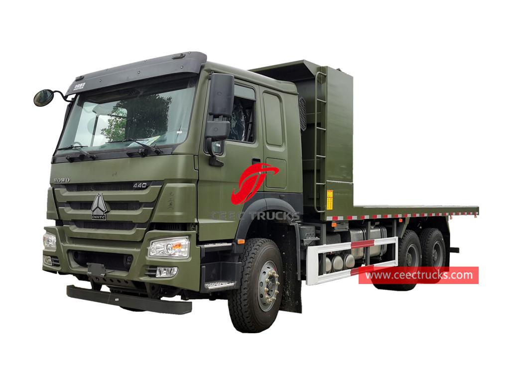HOWO 440HP flatbed dumper truck