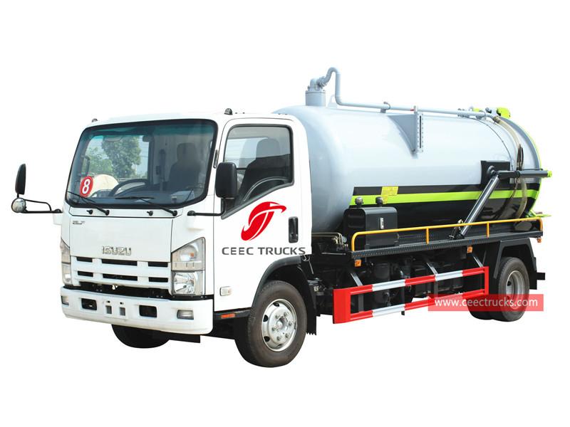 ISUZU 4×2 sewage suction truck