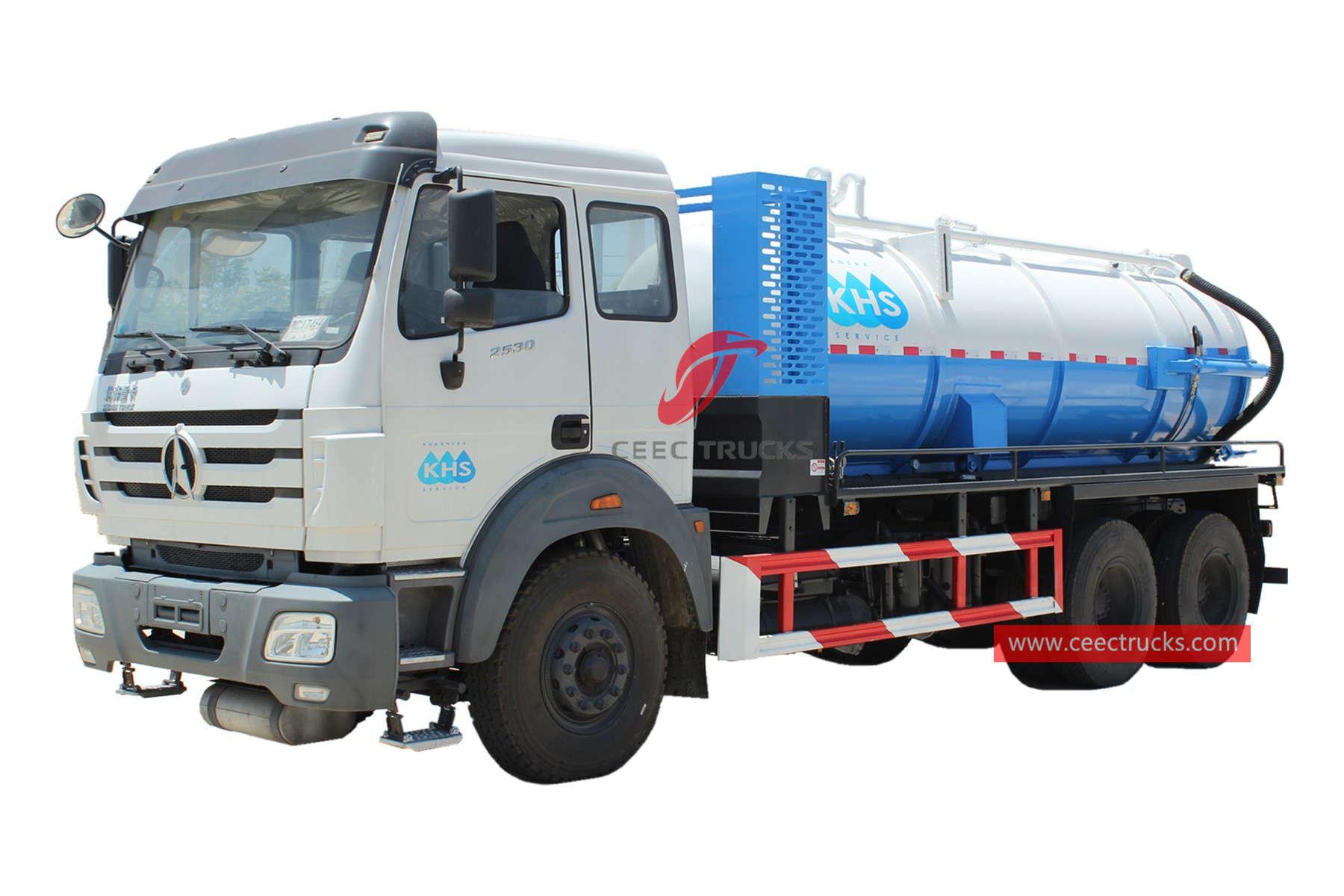 Beiben 10,000 liters vacuum truck