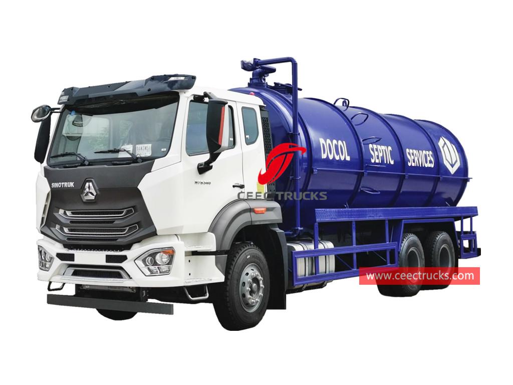 SINOTRUK 6×4 septic tanker truck