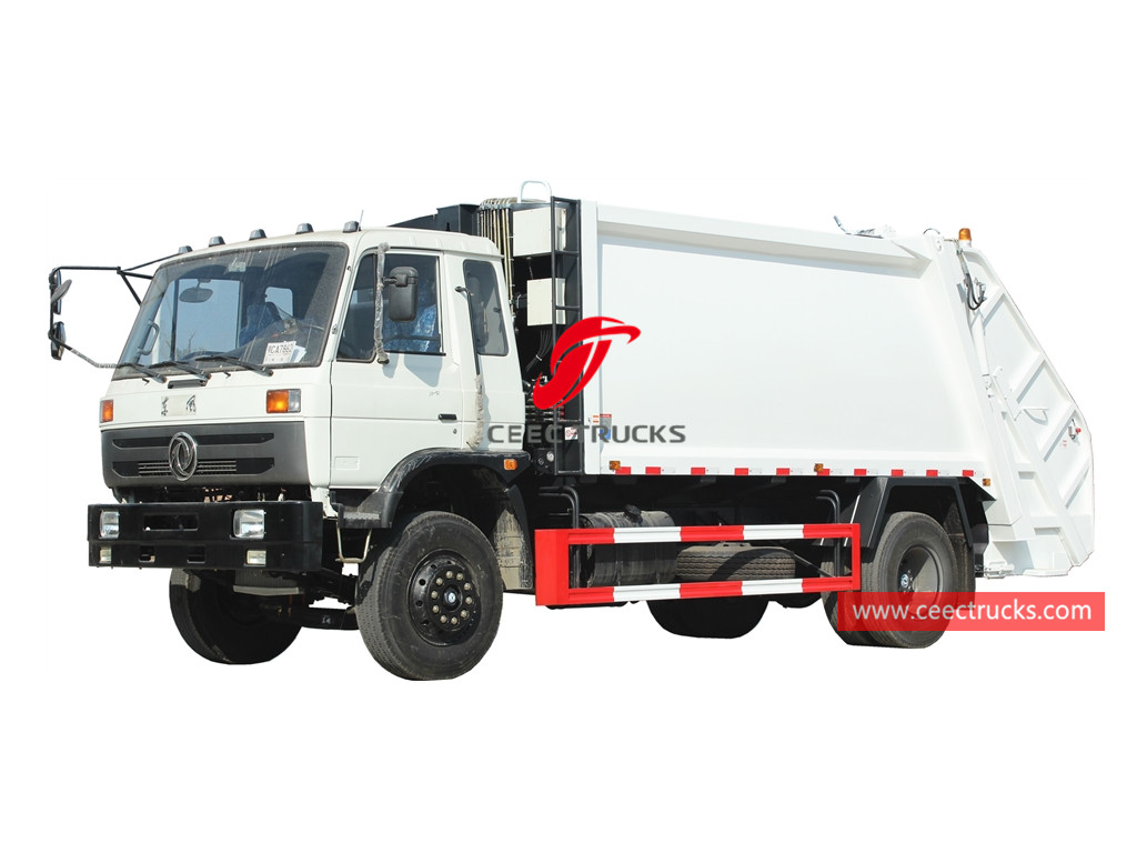 Dongfeng 6 wheeler 14CBM compression refuse truck