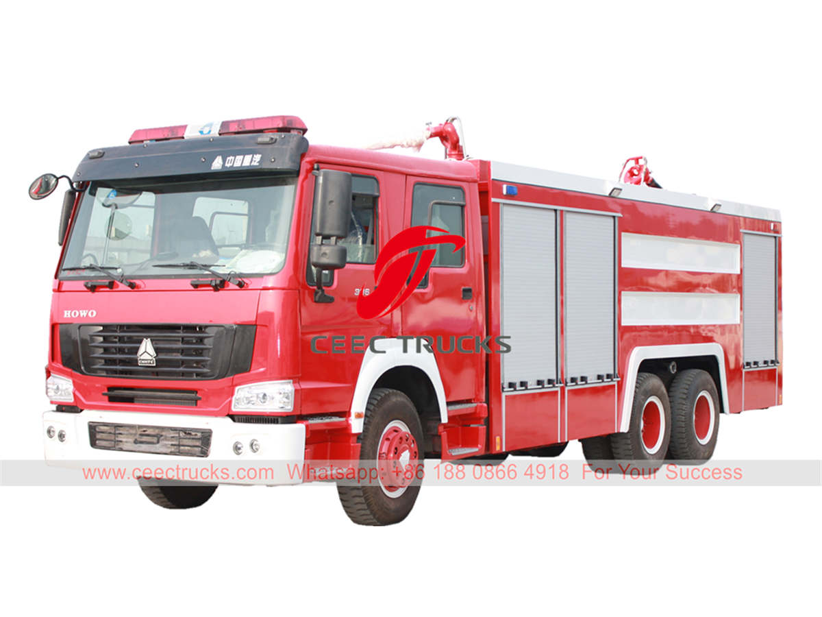 HOWO dry powder fire engine