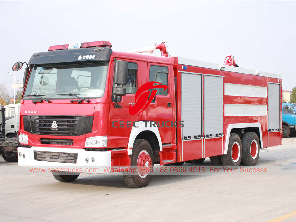 HOWO 10 wheeler fire lorry