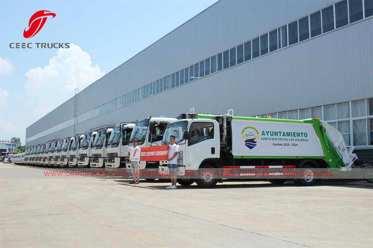 ISUZU refuse compression trucks for export