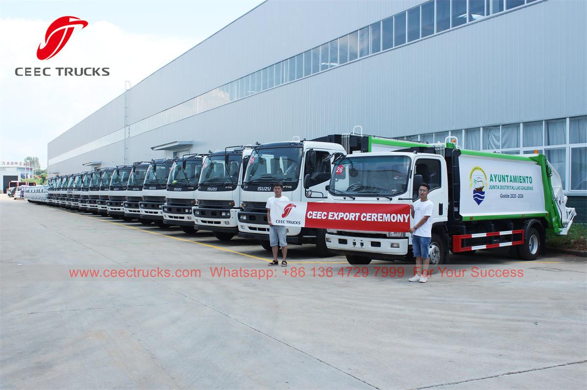 ISUZU waste compressor truck for export