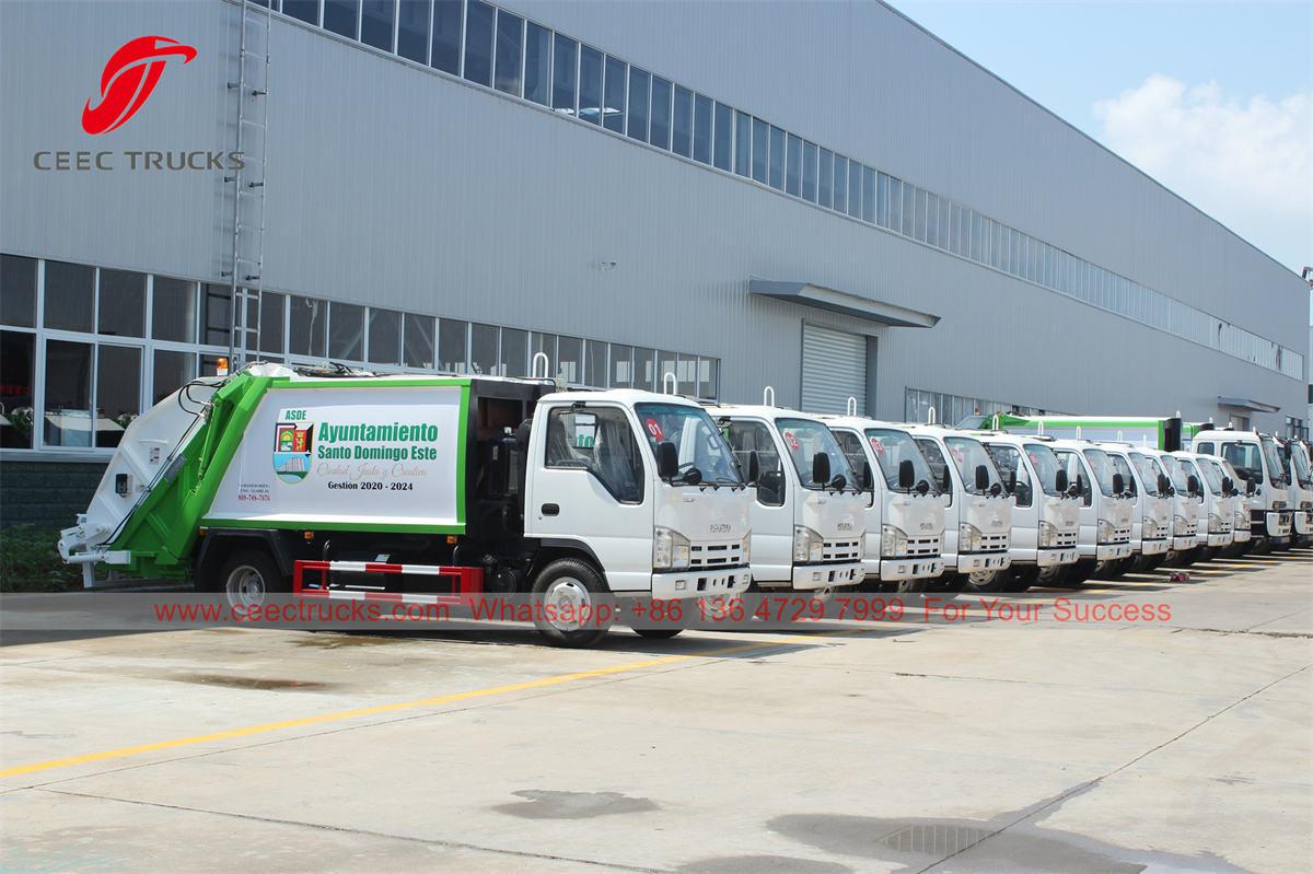 ISUZU trash compactor supplier