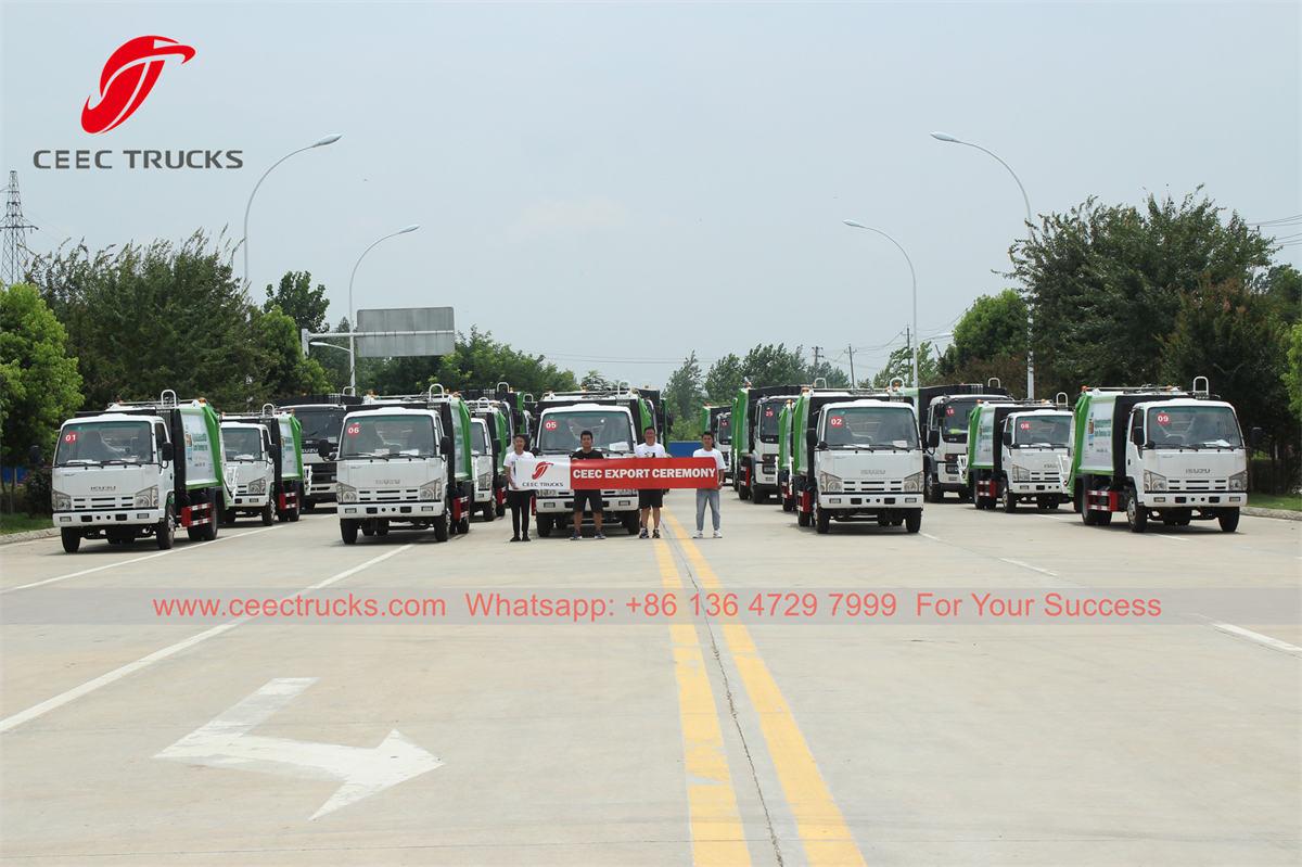ISUZU compressed garbage trucks were delivered