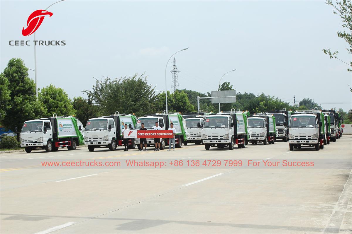 ISUZU refuse compressor trucks