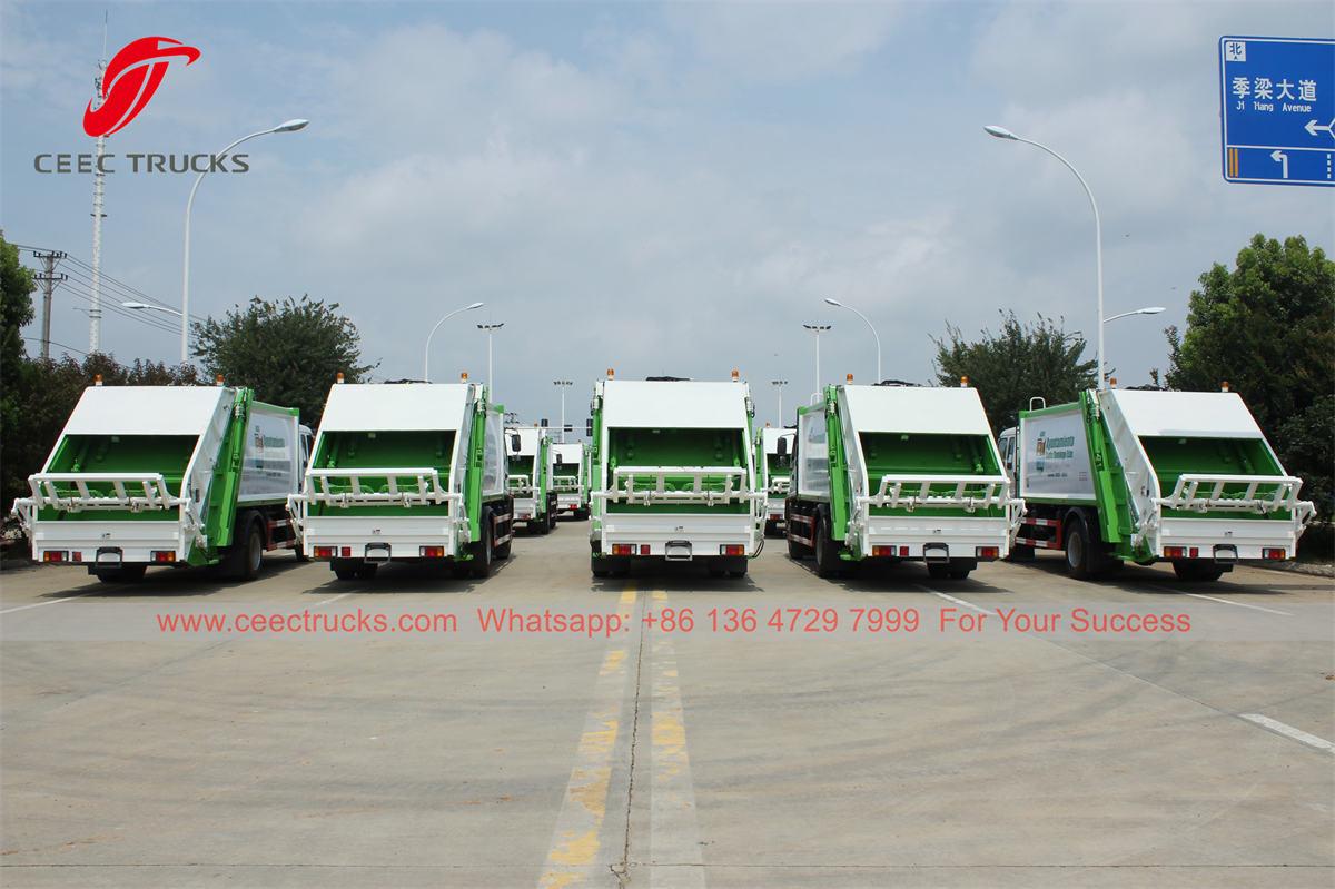 ISUZU back loading bin trucks supplier