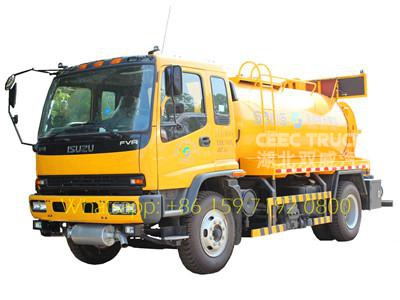 best isuzu 8 CBM combined suction jetting truck