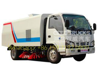 best isuz 4 CBM road sweeper truck