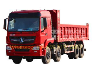 beiben 12 wheelers tipper trucks for congo
