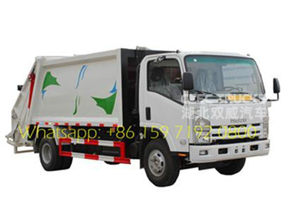 Japanese ISUZU 8 CBM trash compression truck
