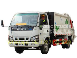 china best 5 CBM trash compactor trucks