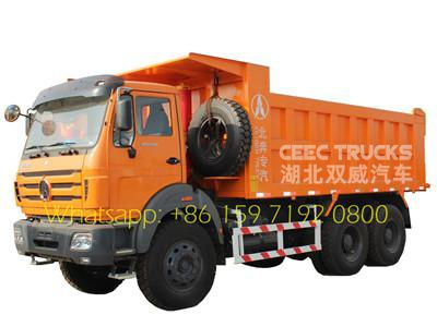 beiben 2538 tipper drawing north benz 6*4 dumper trucks