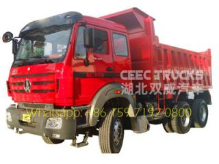 China Beiben 40 ton dump truck for sale 6x4 340hp 10 wheel tipper