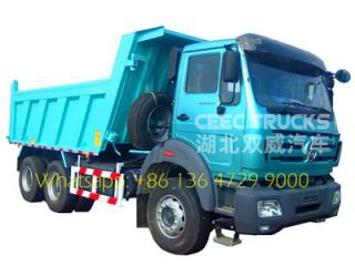 280hp tipper truck North benz 6x4 10 wheel strong dump truck 2628K