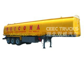 3 axle 48 CBM fuel tanker semitrailer for africa