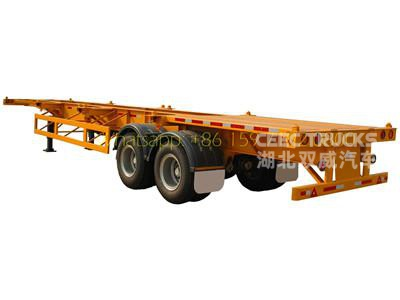 T700 steel Strong trailer frame 40foot bogie suspension Semi Trailer