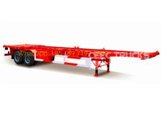 2 axle bogie suspension skeleton trailer 50T