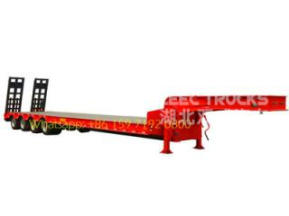 cheap price 80T heavy duty low bed semi trailer on sale