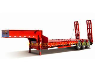 60 T heavy 3-axle low bed semitrailer