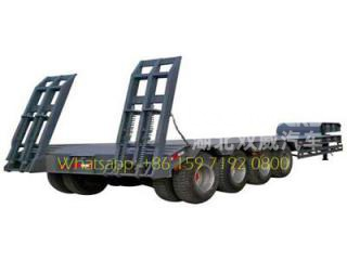 Cheap price 4 axle low bed semi trailer 100 ton 120 tons low bed truck trailer for sale
