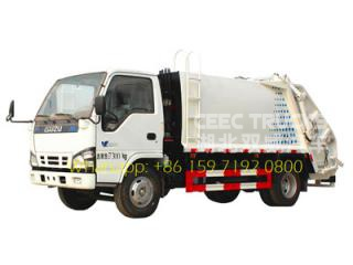 ISUZU 4 CBM refuse compactor truck supplier