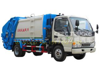 Lowest price JAC 4 CBM garbage compactor trucks