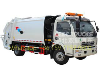 7 CBM refuse compression truck with warning lamp
