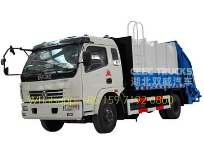 small 8 cbm dongfeng compactor refuse trucks hot sale