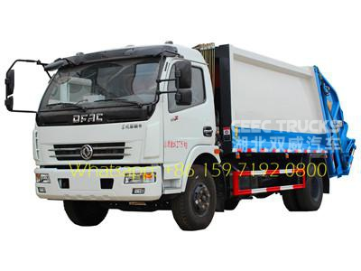 8000 liters dongfeng compressed refuse trucks export Asia Malaysia