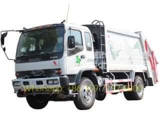 Dominica customer choose ISUZU 12 m³ compactor trucks