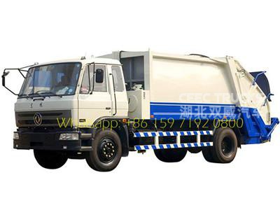 2016 new dongfeng 10000 liters garbage compactor trucks lowest price