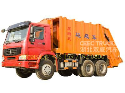 Howo garbage compactor truck compress garbage truck waste compactor truck 18 cbm