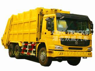 90km/h Max speed howo 336HP china garbage truck capacity 10wheel garbage truck