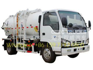 4*2 ISUZU kitchen garbage container truck manufacturer low price sale