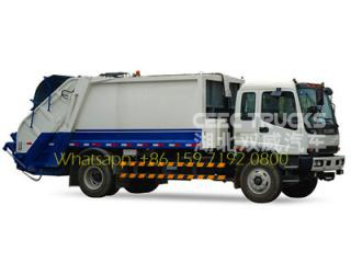 ISUZU 10000 liters refuse compression trucks low price