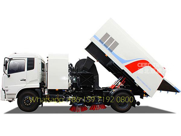 Dongfeng tianjin 6 wheel sweeper truck road cleaning vehicle for sale