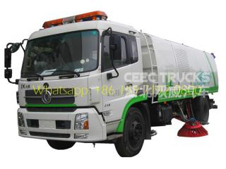 DFAC road sweeper 6CBM dust tank and 3CBM water tank