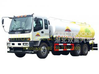 Mongolia customer buy 4 units ISUZU FVZ fuel trucks on sale