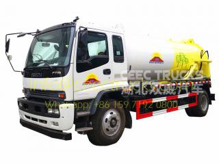 TOP quality ISUZU 10CBM vacuum sewage suction truck export Mongolia