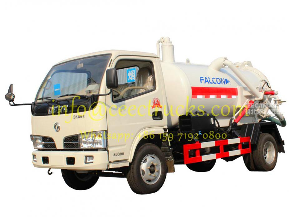 Manufacturer supply dongfeng 4CBM cesspit emptier truck lowest price