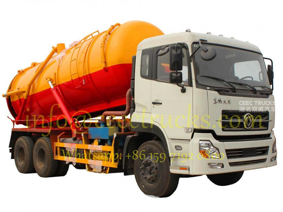 2016 hot sale Dongfeng 6x4 18000 Litres Vacuum Sewage Suction Tanker Truck